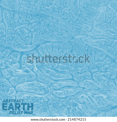Vector abstract earth relief map. Generated conceptual elevation map. Shaded relief of mountainous landscape.  - stock vector