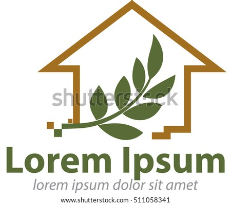 Vector abstract, Eco-friendly homes logo