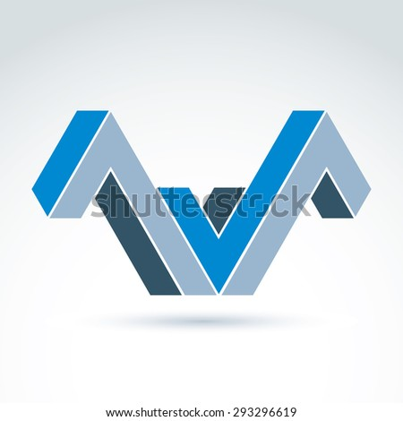 Vector abstract element created from checkmarks. Geometric symbol isolated on white background, corporate attribute.