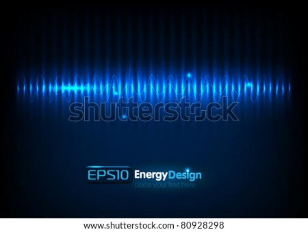 Vector abstract energy background - stock vector
