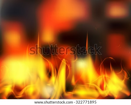 Vector abstract fire flame background looks like real fire.  - stock vector