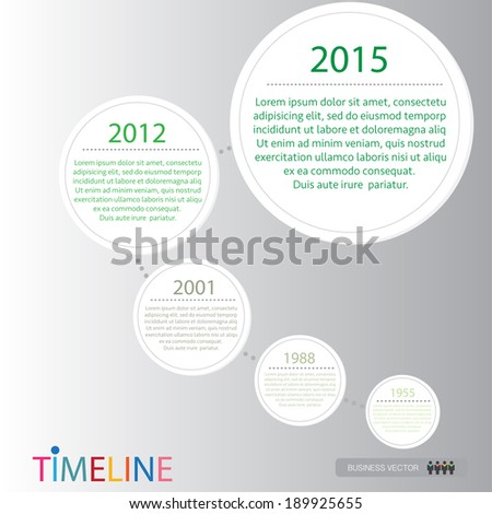 vector abstract flat design flow chart timeline infographic elements