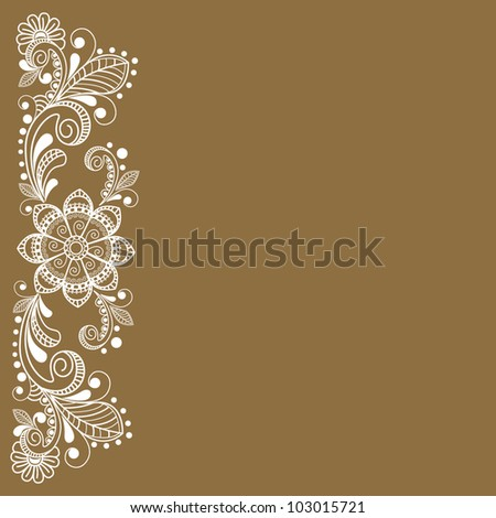 vector abstract floral  background - stock vector