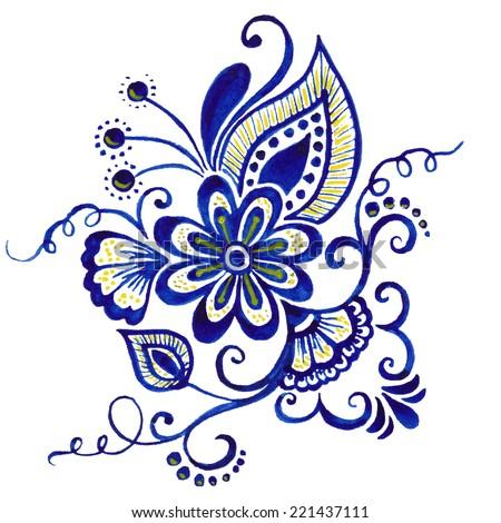 vector abstract floral elements indian mehndi stock vector 221437111 rh shutterstock com indian henna designs vector free download Vector Henna Finger Design