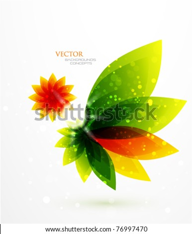 Vector abstract flower - stock vector