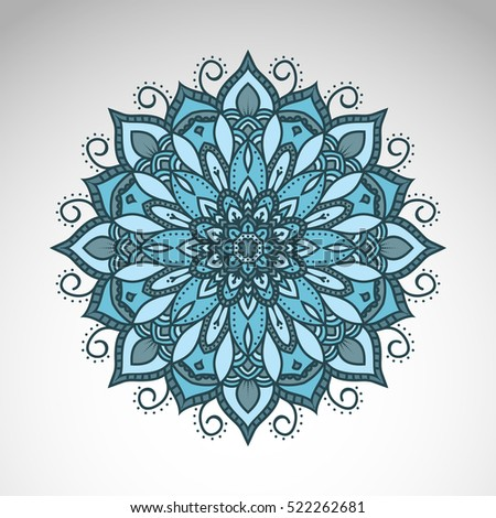 Vector abstract flower mandala. Vintage decorative element.  Oriental motif, an ethnic ornament.