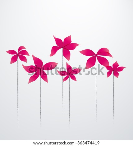 Vector Abstract flowers - stock vector