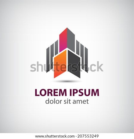 vector abstract flying rocket icon, logo isolated - stock vector