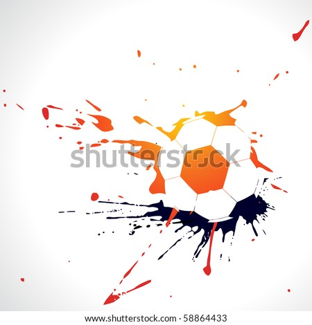 vector abstract football design illustration - stock vector