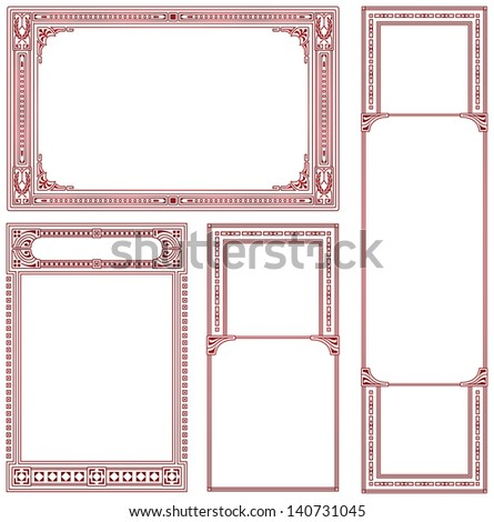 Vector abstract framework for decoration and design - stock vector