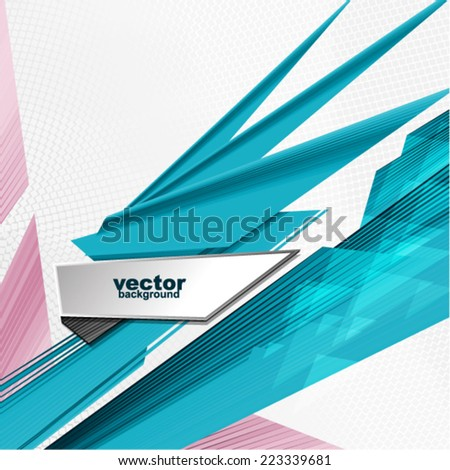 Vector abstract futuristic background - stock vector