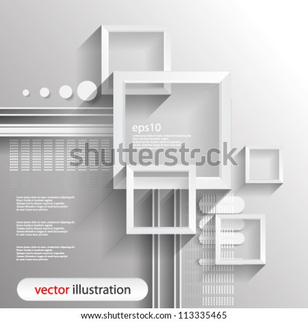 Vector abstract futuristic 3D Geometrical Digital concept illustration - eps10
