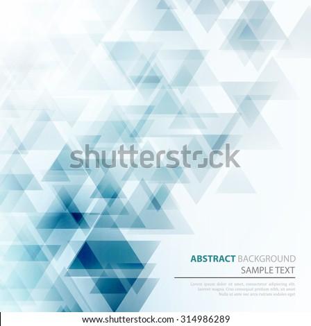 Vector Abstract Geometric Background. Triangular design. EPS 10 - stock vector