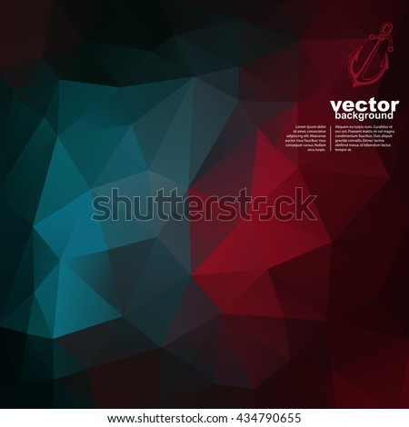 Vector abstract geometric background with anchor