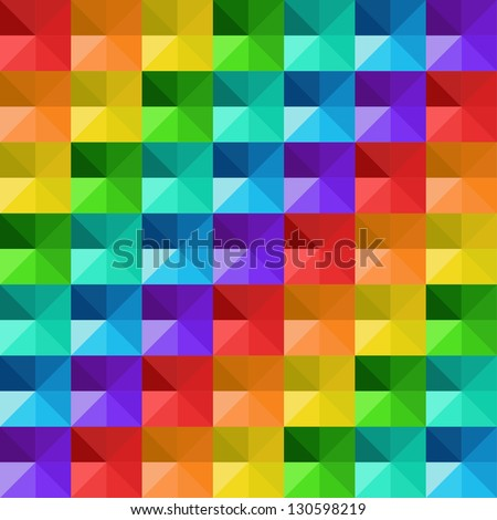 Vector abstract geometric colorful triangles pattern - stock vector