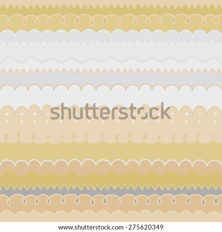Vector abstract geometric hand drawn background. Border set. Seamless pattern.