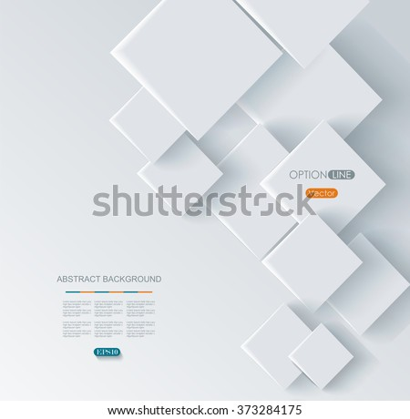 Vector Abstract geometric shape from gray rhombus - stock vector