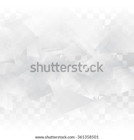 Vector Abstract geometric shape from gray triangle. White triangles - stock vector