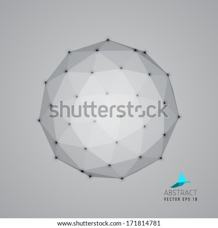 vector abstract geometry object - design element - stock vector