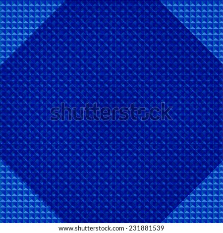 Vector Abstract geometry triangles bright blue pattern. Blue background - stock vector