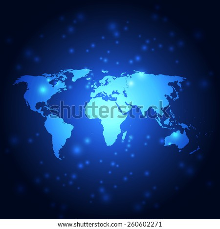 vector abstract global future technology background, illustration - stock vector