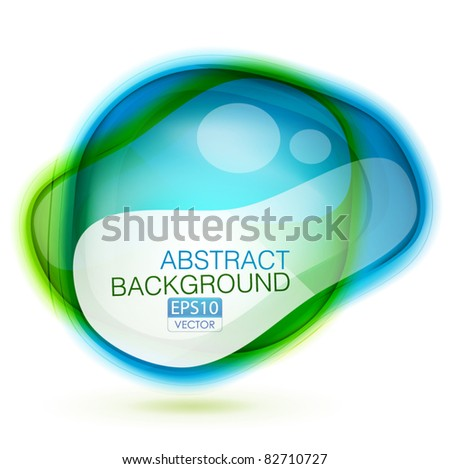 Vector abstract glossy color speech bubble background - stock vector
