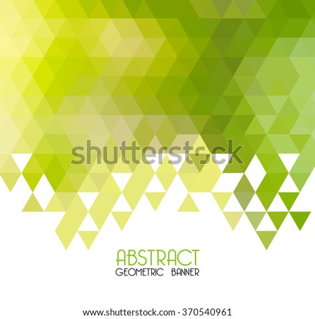 Vector Abstract green geometric background. Template design