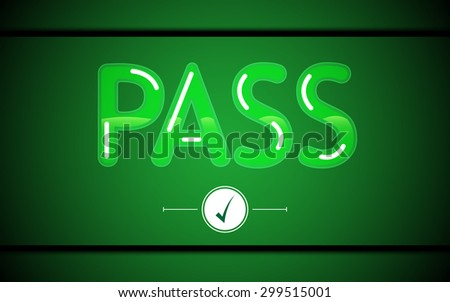 vector abstract green pass sign technology button concept background