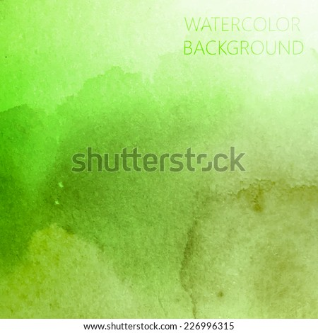 vector abstract green watercolor background for your design - stock vector