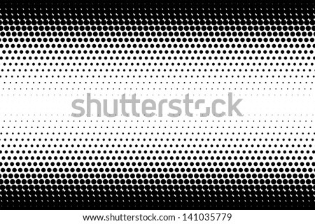 vector abstract halftone black and white background - stock vector