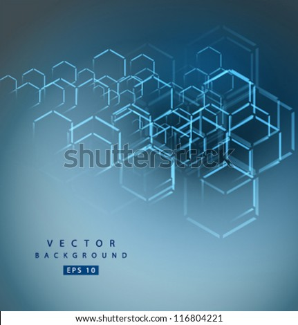Vector abstract hexagon background - stock vector