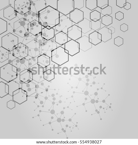 Vector Abstract Hexagon Background Modern Technology Stock ...