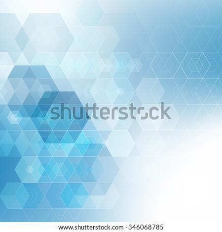 Vector Abstract hexagonal background - stock vector