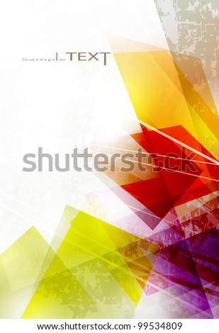 Vector abstract high-tech background. Vector design - stock vector