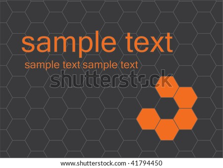 Vector abstract honeycomb background. - stock vector