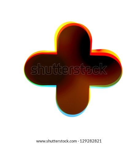 Vector abstract icon on white background. Eps10 - stock vector