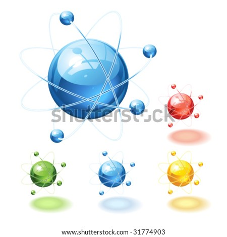 Vector abstract icon, with color variations - stock vector