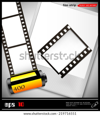 Vector Abstract Illustration Films Frame Stock Vector 219716551 ...