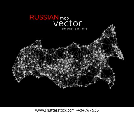 Vector abstract illustration of Russian map. EPS 10