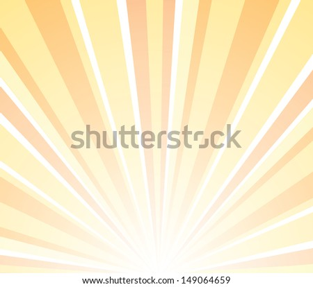 Vector abstract illustration sunset - stock vector