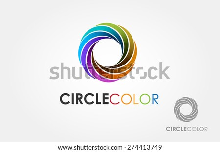 Vector abstract Infinity loop logo template - stock vector