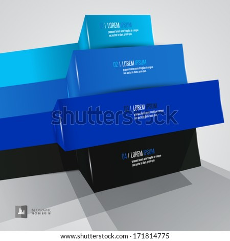 vector abstract infographic element - stock vector