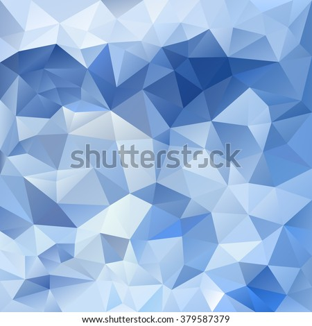 vector abstract irregular polygon background with a triangular pattern in ice blue colors