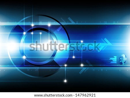 vector abstract laser technology networking background