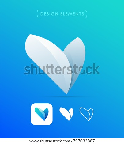 vector abstract letter v logo templateのベクター画像素材 797033887