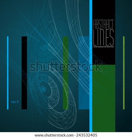 Vector abstract lines, communication and digital technology abstract background, clear eps 8 vector. - stock vector