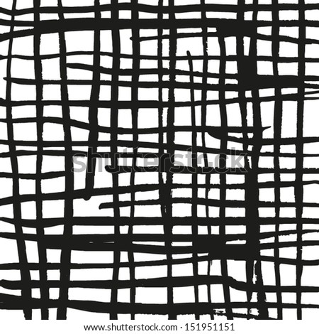 Vector abstract lines texture. Grunge background for your design. Messy black and white paint - stock vector