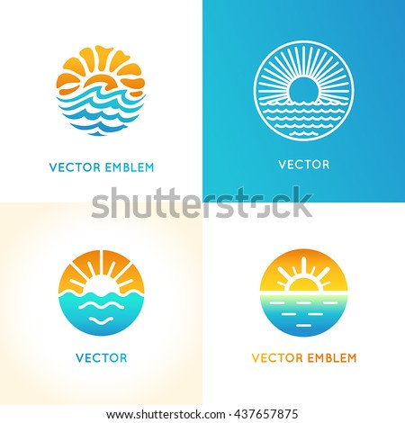 Sun logo stock images royalty free images vectors for Bright illustration agency
