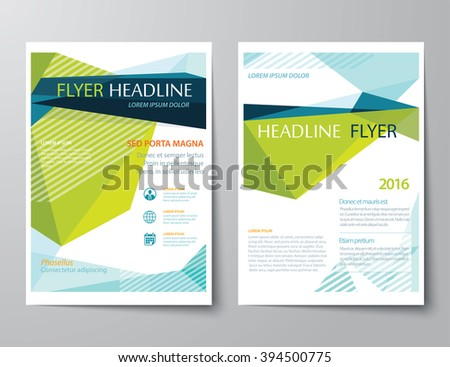 vector abstract low polygon templates for flyer brochure flat design  - stock vector