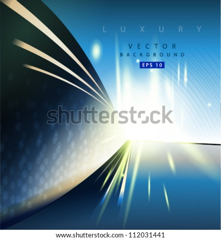 Vector abstract luxury background - stock vector